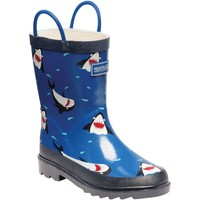 Shoes Children Wellington boots Regatta MINNOW JUNIOR Wellingtons Ash Rock Grey Blue Blue