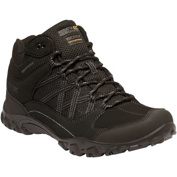 Shoes Men Boots Regatta Edgepoint Mid Waterproof Walking Boots Black Black