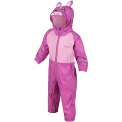 Clothing Children Jumpsuits / Dungarees Regatta CHARCO Waterproof PuddleSuit Pink