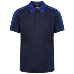 Clothing Men Short-sleeved polo shirts Professional CONTRAST Coolweave TShirt Blue