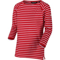 Clothing Women Long sleeved tee-shirts Regatta POLINA TShirt Navy Stripe Red Red