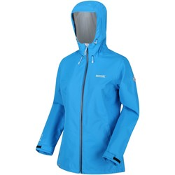 Clothing Women Coats Regatta Hamara III Lightweight Waterproof Hooded Walking Jacket Blue Blue