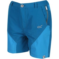 Clothing Children Shorts / Bermudas Regatta SORCER MOUNTAIN Lightweight Shorts Seal Grey Black Blue Blue