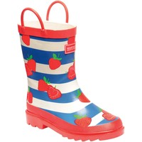 Shoes Children Wellington boots Regatta MINNOW JUNIOR Wellingtons Ash Rock Grey Red Red