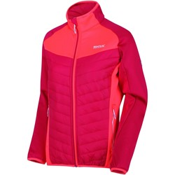Clothing Women coats Regatta Bestla Hybrid Lightweight Insulated Walking Jacket Pink Pink