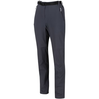 Clothing Women Trousers Regatta XERT III Stretch Zip-Off Trousers Seal Grey Grey Grey