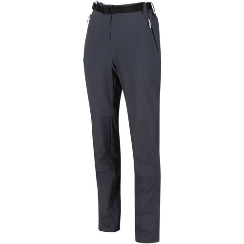 Clothing Women Trousers Regatta XERT III Stretch Zip-Off Trousers Grey