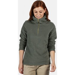 Clothing Women Fleeces Regatta Solenne Mid Weight Half Zip Stripe Fleece Green Green