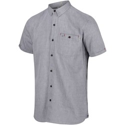 Clothing Men Long-sleeved shirts Regatta Damari Coolweave Short Sleeve Shirt Grey Grey