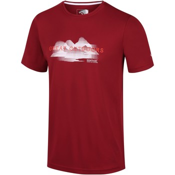 Clothing Men T-shirts & Polo shirts Regatta Fingal V Graphic Active T-Shirt Red Red