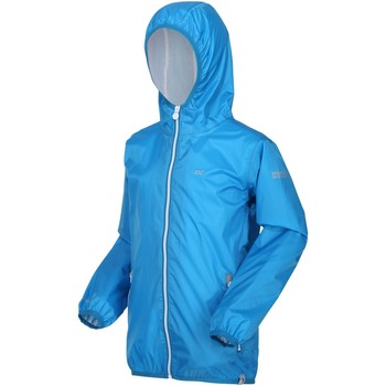 Clothing Children Macs Regatta LEVER II Waterproof Shell Jacket Blue