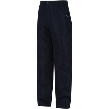 Clothing Children Trousers Regatta Sorcer II Zip Off Walking Trousers Blue Blue