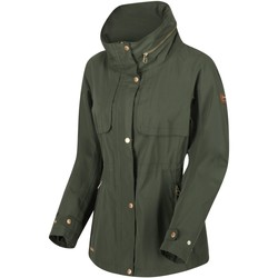 Clothing Women coats Regatta Narelle Lightweight Waterproof Funnel Neck Jacket Green Green