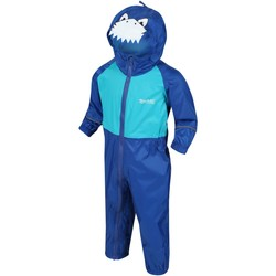 Clothing Children Trousers Regatta Charco Breathable Waterproof Puddle Suit Blue Blue