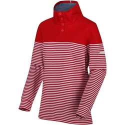 Clothing Women Sweaters Regatta CAMIOLA Fleece Navy Stripe Red Red