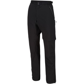 Clothing Men Trousers Regatta XERT III Stretch Zip-Off Trousers Seal Grey Black Black
