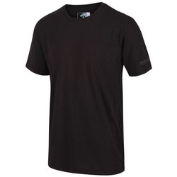Clothing Men Short-sleeved t-shirts Regatta TAIT TShirt Black