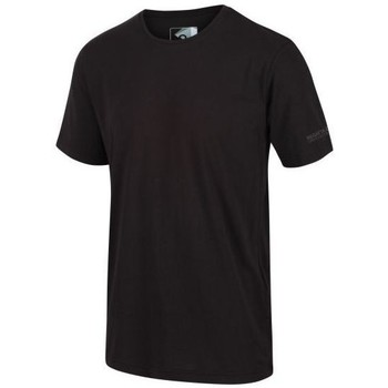 Clothing Men Short-sleeved t-shirts Regatta Tait Lightweight Active T-Shirt Black Black