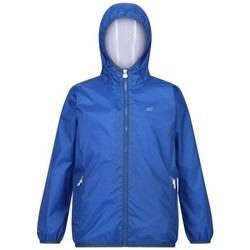 Clothing Children Parkas Regatta LEVER II Waterproof Shell Jacket Blue