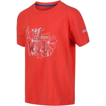 Clothing Children T-shirts & Polo shirts Regatta BOSLEY III TShirt Orange