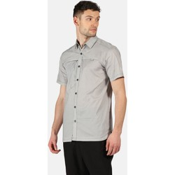 Clothing Men Long-sleeved shirts Regatta Honshu V Short Sleeved Shirt Ash Grey Grey