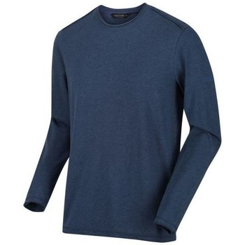 Clothing Men Sweaters Regatta KARTER II TShirt Navy Stripe Blue Blue