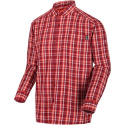 Clothing Men Long-sleeved shirts Regatta MINDANO III Long-Sleeve Shirt Ash Red Red