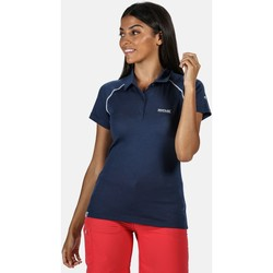 Clothing Women T-shirts & Polo shirts Regatta Kalter Short Sleeve Polo Shirt Blue Blue