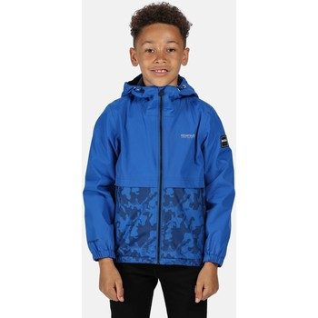Clothing Children Jackets Regatta HASKEL Waterproof Shell Jacket Navy  Blue Blue