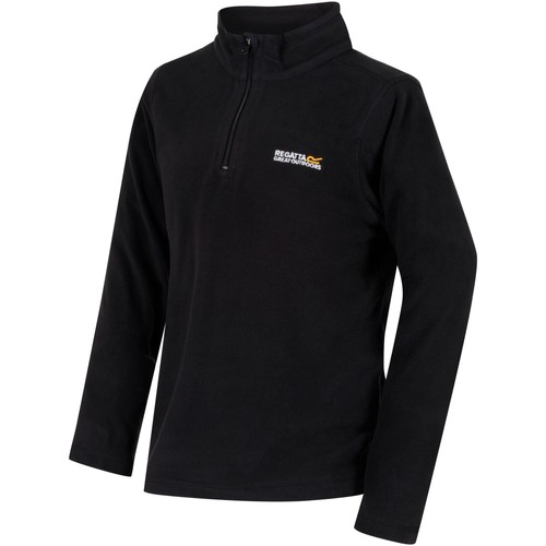 Clothing Children Fleeces Regatta HOT SHOT II Half-Zip Fleece Black