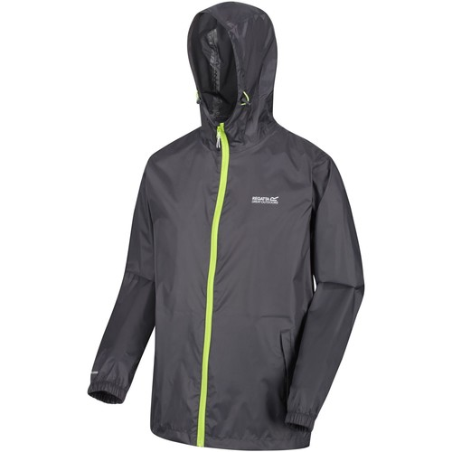 Clothing Men Coats Regatta PACK-IT III Waterproof Shell Jacket Grey