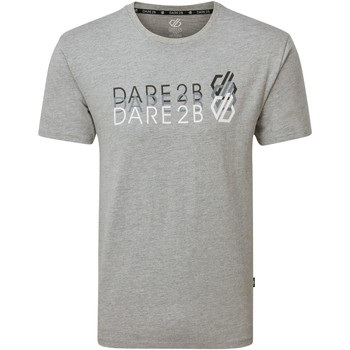 Clothing Men T-shirts & Polo shirts Dare 2b FOCALIZE Graphic T-Shirt Grey