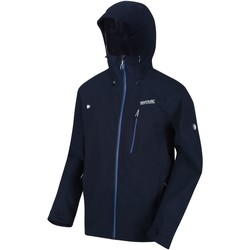Clothing Men Parkas Regatta BIRCHDALE Waterproof Shell Jacket Amber Glow Seal Grey Blue Blue