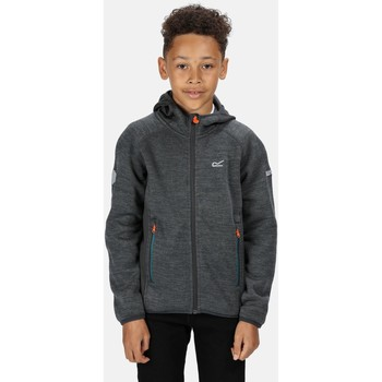 Clothing Children Fleeces Regatta Dissolver II Full Zip Hooded Fleece Grey Grey