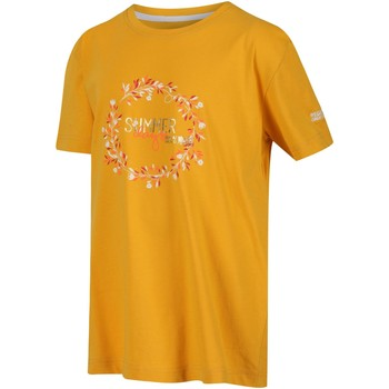Clothing Children T-shirts & Polo shirts Regatta BOSLEY III TShirt Yellow