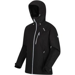 Clothing Women Coats Regatta BIRCHDALE Waterproof Shell Jacket Seal Grey Black Black Black