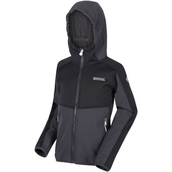 Clothing Children Coats Regatta Bracknell II Hooded Softshell Walking Jacket Grey Grey