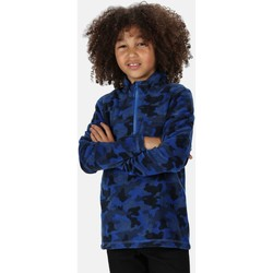 Clothing Children Fleeces Regatta LOVELY JUBBLIE Half-Zip Fleece Navy Camo Blue Blue
