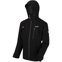 Clothing Men Coats Regatta Birchdale Waterproof Hooded Walking Jacket Black Black