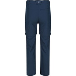 Clothing Children Trousers Regatta HIKEFELL Zip-Off Trousers Seal Grey Blue Blue