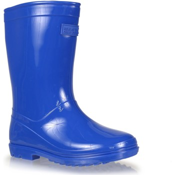 Shoes Boy Wellington boots Regatta WENLOCK JUNIOR Wellingtons Fiery Coral Blue Blue