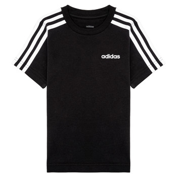 Clothing Boy Short-sleeved t-shirts adidas Performance YB E 3S TEE Black