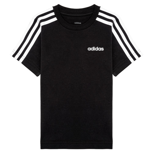 Clothing Boy Short-sleeved t-shirts adidas Performance YB E 3S TEE Black