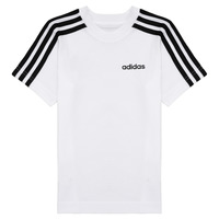 Clothing Boy Short-sleeved t-shirts adidas Performance YB E 3S TEE White