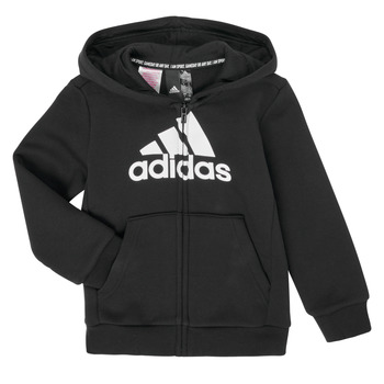 Clothing Boy Sweaters adidas Performance B MH BOS FZ FL Black