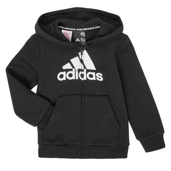 Clothing Boy Sweaters adidas Performance B MH BOS FZ FL Black