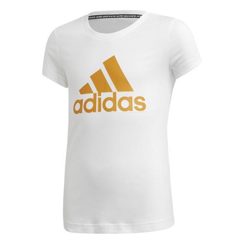 Clothing Girl Short-sleeved t-shirts adidas Performance YG MH BOS TEE White