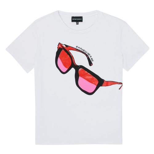 Clothing Girl Short-sleeved t-shirts Emporio Armani 6H3T7T-3J2IZ-0100 White