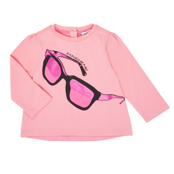 Clothing Girl Long sleeved tee-shirts Emporio Armani 6HET02-3J2IZ-0315 Pink