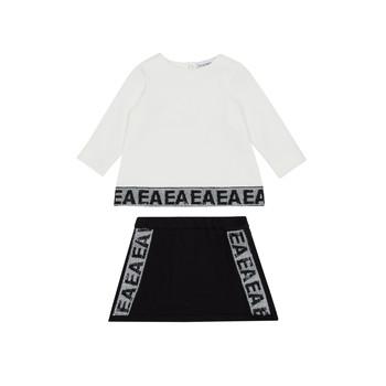 Clothing Girl Sets & Outfits Emporio Armani 6HEV08-3J3PZ-0101 White / Black